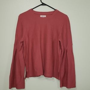 Madewell Wide Sleeve Pink Top
